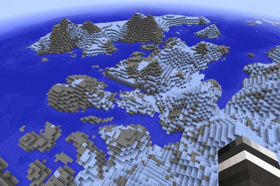 Antarktis genskabt i Minecraft