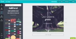 Lav reklame grafik online gratis